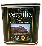 Jaén 100% Picual - Aceite de Oliva Virgen Extra - Premium Reserva Familiar AOVE - Sierra Mágina – Vergilia (2,5 Litros...