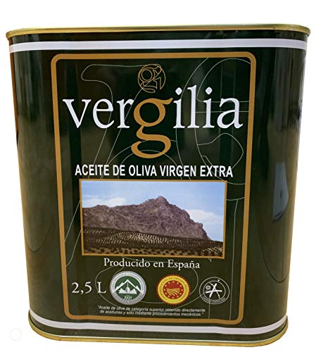 Jaén 100% Picual - Aceite de Oliva Virgen Extra - Premium Reserva Familiar AOVE - 2,5 Litros Lata - Sierra Mágina – Vergilia