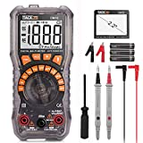 Digital Multimeter Electrical Tester 2000 Counts TRMS Auto-Ranging Amp Volt Ohm Meter Diode and Continuity Tester AC/DC Voltage/Current Detector with 2.2' LCD Display,Backlight and NCV Function-DM10