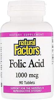Natural Factors Folic Acid - 1000 mcg - 90 Tablets