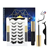 Magnetic Eyelashes with Eyeliner Kit, With Reusable Lashes,Magnetic Eyeliner for Magnetic Lashes Kit (7 pairs)