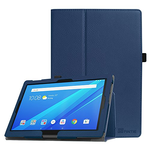 Fintie Lenovo Tab4 10 / Tab4 10 Plus Hülle - Folio Kunstleder Schutzhülle Tasche Etui Case mit Auto Schlaf/Wach Funktion für Lenovo Tab 4 10 / Tab 4 10 Plus (10 Zoll) Tablet-PC, Marineblau