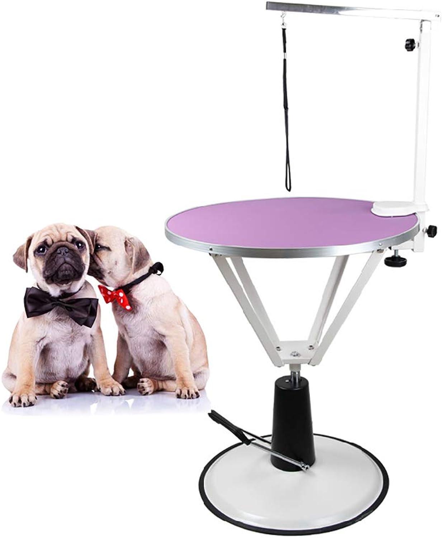 DJLOOKK Pet Grooming Table Professional Adjustable Hydraulic Pump For Medium Small Dogs,Purple