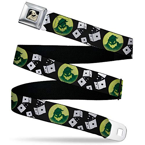Buckle-Down unisex adult Buckle-down Seatbelt Nightmare Before Christmas Regular Belt, Nightmare Before Christmas, 1.5 Wide - Fits Pant Size 24-38 US