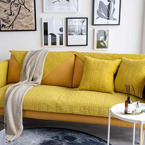 Cord Schnitts Sofa Überwürfe SofahusseFür L-Form,Ecksofa Sofabezug Sofaüberwürfe Gesteppte Sofaschoner 1 2 3 4 Seater Sofa Schutz Rutschfest Haustiere Hund Sofa Abdeckung-E-1Pcs 110x150cm(43x59inch)
