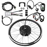 Kit de conversión de bicicleta eléctrica de rueda delantera/trasera de 24', kit de motor de bicicleta eléctrica de 36 V 250 W con pantalla LCD, controlador inteligente para bicicleta de carretera(2#)