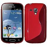 ebestStar - Funda Compatible con Samsung Galaxy Trend S7560, S Duos S7562 Carcasa Gel Silicona Gel TPU Motivo S-línea, S-Line Case Cover, Rosa [Aparato: 121.5 x 63.1 x 10.5mm, 4.0'']
