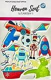 10 x juguetes para niños de 5 cm comestibles de oblea para decoración de magdalenas de pie, decoración de tarta de cumpleaños, fácil de cortar