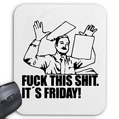 Tapis de Souris (Mousepad) Fuck This Rage Fun Merde Sa Vendredi Vendredi Meme Le pour Les Amis - des Connaissances ou des collègues de Travail pour Votre Ordinateur Portable, ord