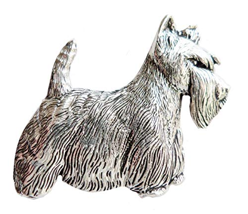 Schottischer Terrier, Zinn, Pin-von Hand hergestellt in Cornwall, UK