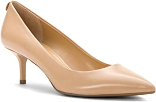 Michael Kors Womens Flex Kitten Pump Pointed Toe Classic Pumps, Beige, Size 7.0