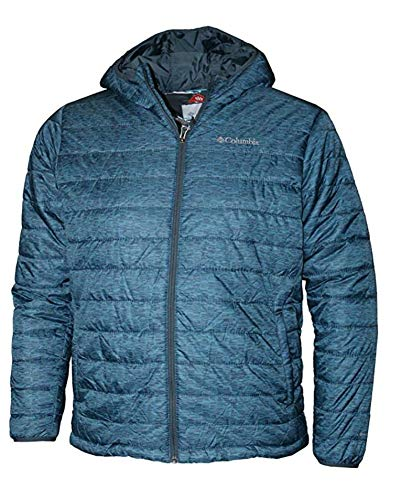 Columbia Men's Crested Butte Omni-Heat Hooded Jacket, Medium, Blue