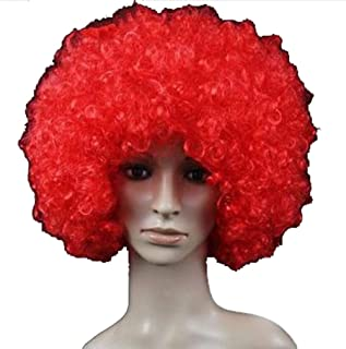 Halloween Clown Accessory Costume Party Afro Fluffy Funny Wig