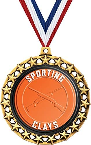 Sporting Reservation Now free shipping Clays Medal 2 1 Star Medals Galaxy 2