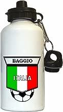 Roberto Baggio (Italy) Soccer Water Bottle White