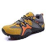 Zapatos de Senderismo Ligera Aire Libre Excursionismo Gimnasia Trekking Zapatos para Caminar Amarillo 43 EU
