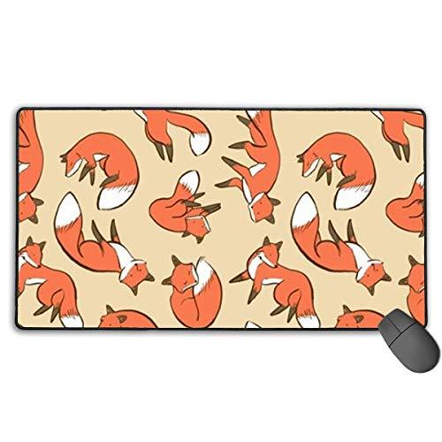 Büro-Schreibtisch-Pad Großes wasserdichtes lustiges Fox Art-Maus-Pad Multifunktions-Schreibtisch-Schreibmatte Laptop-Tastatur-Mauspad für Büro/Zuhause (15,7 x 29,5 Zoll)