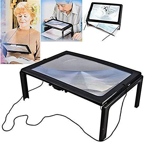 CLX Opvouwbare loep leesloep met LED Visual Helper met leesbril voor boeken, tijdschriften, vouwkaarten