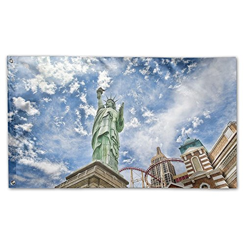 Colby Keats Statue Of Liberty New York Garden Lawn Flags Indoor Outdoor Decoration Home Banner Polyester Sports Fan Flags 3 X 5 Foot
