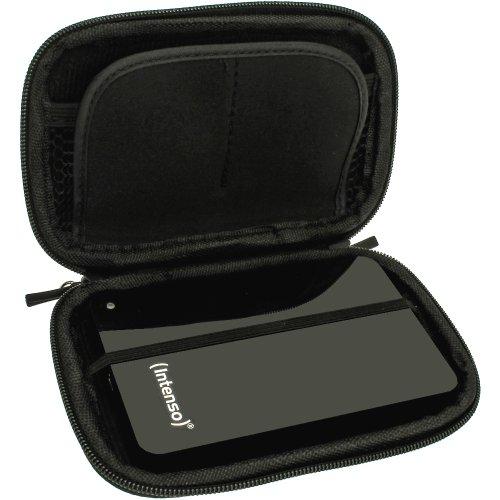 igadgitz Schwarz Eva Hart Case Cover Kompatibel Mit Intenso Memory Safe, Station, Play USB 3.0, Case, 2 Move USB 3.0, Drive USB 3.0, Blade, Home, Box 2.5 USB Externe Festplatte + Kordel