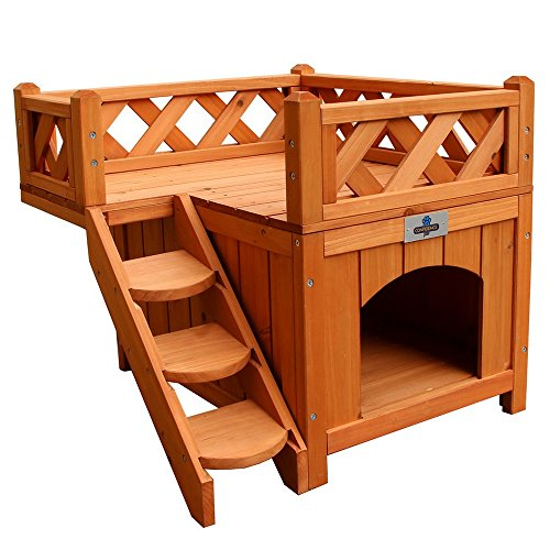 Confidence Pet Wooden Dog House/Kennel with Balcony