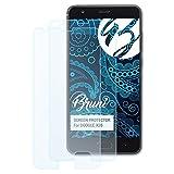 Bruni Schutzfolie kompatibel mit DOOGEE X20 Folie, glasklare Bildschirmschutzfolie (2X)