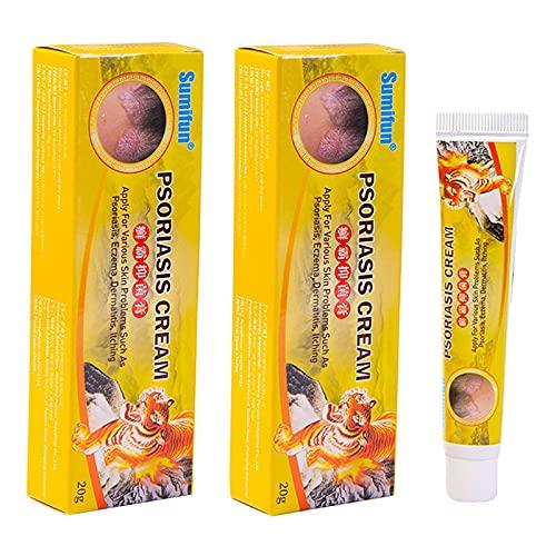 harayaa 2 unidades de crema de psoriásica Natural ungüento Dermatitis tratamiento de la piel alivio del dolor, aplicable a la esterilización de la piel y