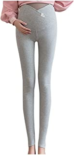 MEOILCE Pregnant Women High Waist Leggings Pants Stretchy Maternity Skinny Ankle Trousers Slim for Women