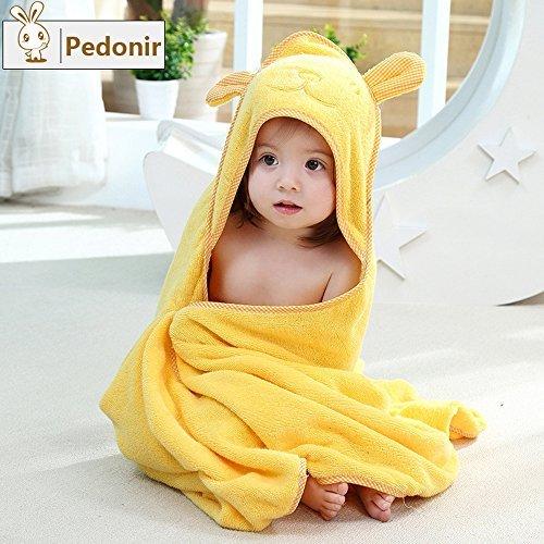 【Pedonir】赤ちゃん ベビー バスローブ ポンチョ マント 子供 フード付き