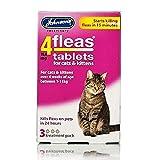 Johnsons Veterinary Products 4Fleas Tabletas para Gatos y Gatitos Paquete de 3