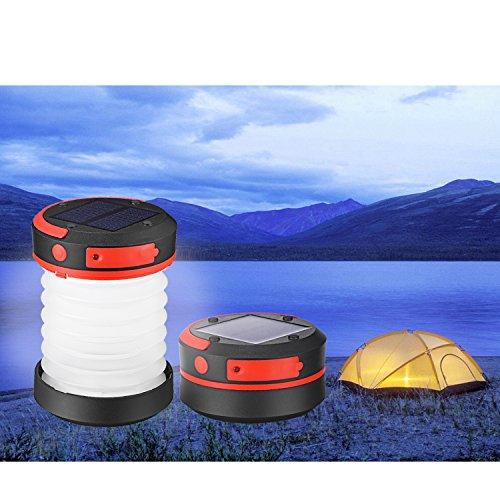 Liqoo® LED Solar Linterna de Camping USB Farol de Mano...