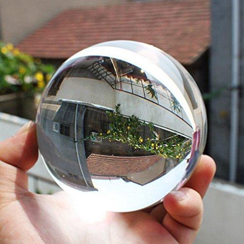 MathRose Glaskugel Fotografie, K9 Glas Lensball, Klare Kristallkugel, Fotokugel Crystal Ball Fotografie Dekoration Geschenk für Freund (100mm)