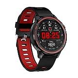 ZHEBEI Reloj inteligente de los hombres IP68 impermeable reloj hombre modo inteligente con ECG PPG presión arterial ritmo cardíaco deportes fitness rojo