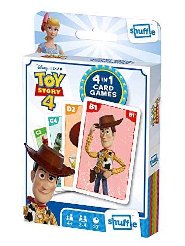 Shuffle Card Game Fun 4 in 1 Toy Story 4