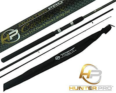 11ft Carbon Carp Float Match Fishing Rod. Hunter Pro Inc. Cloth Bag from Hunter Pro