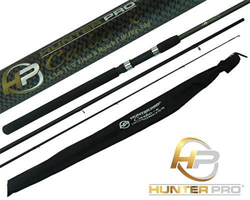Hunter Pro 11ft Carbon Carp Float Match Fishing Rod Inc. Cloth Bag