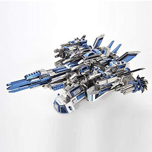 Microworld 3D Metal Puzzle Mechanical Pilot 1 Spacecraft DIY Assemble Model Kit Laser Cut Jigsaw Toy - D030