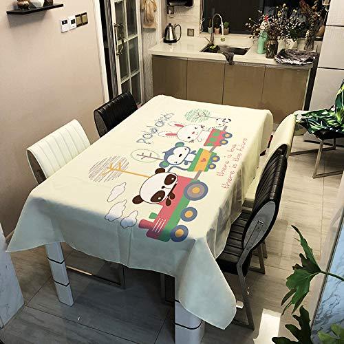 SHANGZHAI Tischdecke aus der Cartoon-Serie, Tischdecke mit Digitaldruck, wasserdichte Antifouling-Tischdecke aus Polyester, schlanke, minimalistische Tischdecke ZB3032-11, 90 x 90 cm