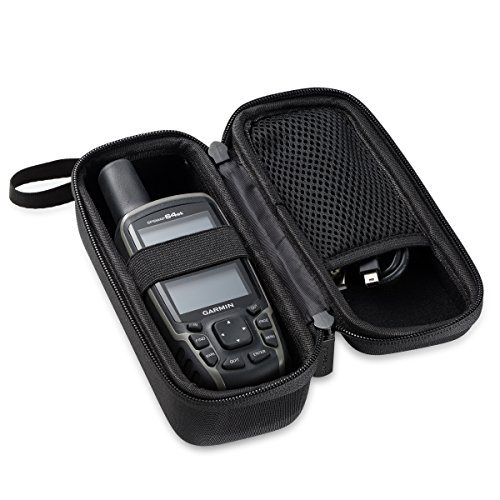 by DURAGADGET Jet Black Hard EVA Carry Case Compatible with The Garmin GPSMAP 64s