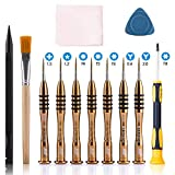 qiaoyosh MacBook Destornillador Reparacion Herramienta con Torx T4 T5 T6 T8 Y2.0 0.6, 12 in 1 Kit de...