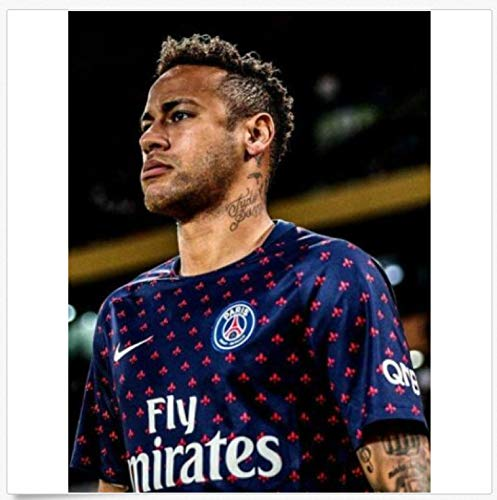 MGSHN Neymar Jr 10 Paris Saint-Germain PSG Barcelona póster de fútbol Lienzo...