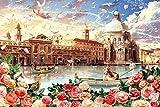 XiuTaiLtd 1000 Piezas Puzzle Venecia Romance, 75X50Cm, Amigos