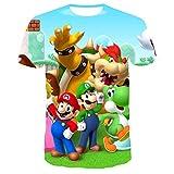 マリオTシャツ3Dカジュアル半袖Tシャツ男の子と女の子 93562,150cm