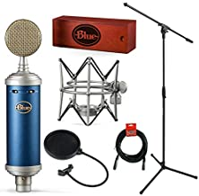 Blue Microphones Bluebird SL Large-Diaphragm Condenser Studio Microphone with Mic Stand, Pop Filter, and XLR Cable