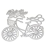 Healifty Metall Formen Form Schablone DIY Metall Embossing Schablone für Album Scrapbooking Hochzeit Papier Karte Machen Art Craft Decor (Fahrrad)