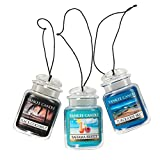 Yankee Candle Car Jar Ultimate Hanging Air Freshener 3-Pack...