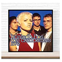 Weitaian The Cranberries Bualadh Bos:The Cranberries Live Album Cover Poster Wall Art Canvas Painting Home Decor -70X70Cm No Frame