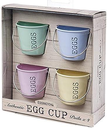 Preisvergleich für Eierbecher Eimer (Pastellfarben), 4 Stück