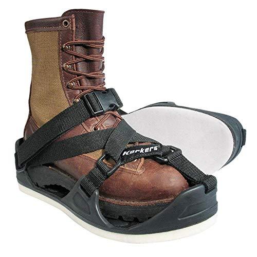 Korkers Unisex TuffTrax 3-In-1 Overshoe Sandal, Black, XL(12-13)