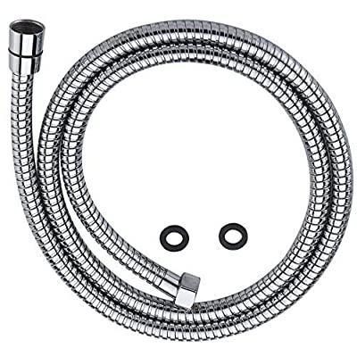 100% Metal Shower Hose For Hand Held Shower Heads, Chrome   Extra Long 72 Inch Cord Made With Commercial Grade Stainless Steel   Universal Replacement Part For Handheld Showerhead Hoses